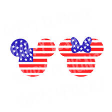 Mickey Mouse Flag Fourth Of July Minnie Svg Mickey Mouse Flag Svg Mickey Mouse Svg