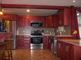 door space above hard rosewood kitchen cabinets maple wood bright