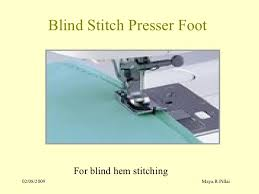 Blind Hem Presser Foot Sewing Machine Attachments