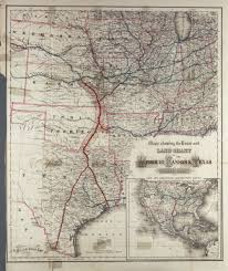 Pony Express Route Map by A Map Of The Route And Land Grant Of The Missouri Kansas And
