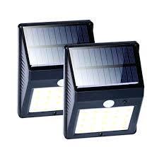 solar garden wall lights powered outdoor light pir lowes 29181