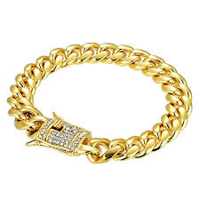 titanium bracelet men images Hip hop men stainless steel with diamond bracelet men jpg