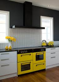 beautiful kitchen featuring a yellow belling richmond oven they