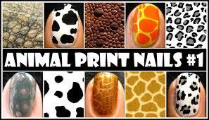 nail art designs animal print nail art 1 no tools required