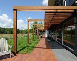 Deck Pergola Ideas by Modern Garden Design Pergola Ideas Wooden Deck Gravel Path