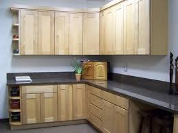Kitchen Paint Ideas With Maple Cabinets Pretty Maple Shaker Kitchen Cabinets Features L Shape Brown Color