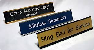 Office Desk Name Plate Deco Line Engraving Personalized Office Name Plates Signs Engraved