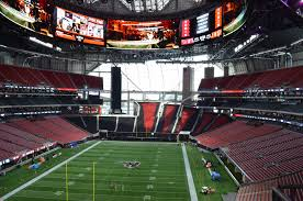mercedes inside mercedes stadium wows with tech front office sports