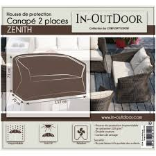 protection canapé housse de protection pour canapé 2 places zenith en résine in