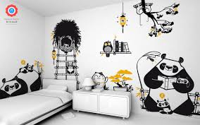 daddy panda kids wall stickers for baby nursery by e glue