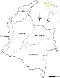 Colombian Map Map Of The Natural Regions Of Colombia
