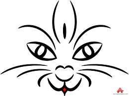 tribal cat face tattoo design free clipart design download