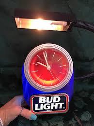 bud light bar light bud light bar top clock with light 1993 item no 801 136 july 2
