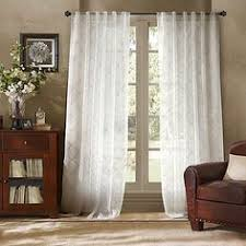 Bed Bath Beyond Sheer Curtains Dkny Halo Rod Pocket Sheer Window Curtain Panel In White Rod