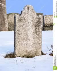 gravestones for halloween empty gravestone in snowy cemetery stock photo image 59857770