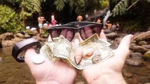 and jewelry found money and jewelry while freediving at waterfall in hawaii