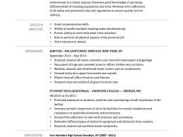 Janitorial Resume Examples Skills Of A Janitor Eliving Co