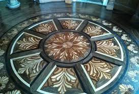 tahari custom inlaid wood flooring design