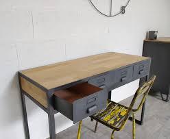 bureau industriel bois et metal bureau industriel à tiroirs en métal fabrication française