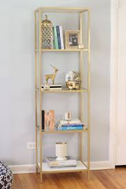 Two Shelf Bookcase White by Best 25 Gold Shelves Ideas On Pinterest Ikea Shelves