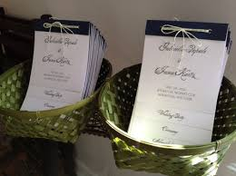 layered wedding programs diy