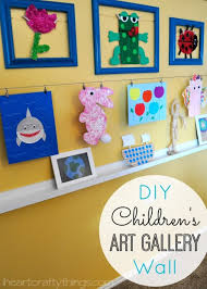 how to do a gallery wall diy children s art gallery wall i heart crafty things