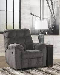 Swivel Recliner Chairs For Living Room Acieona Slate Fabric Contemporary Swivel Rocker Recliner Chair