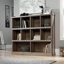 Sauder Beginnings Desk Highland Oak by Sauder Barrister Lane Salt Oak Open Bookcase 414726 The Home Depot