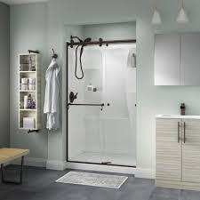 Delta Shower Doors Delta Portman 48 In X 71 In Semi Frameless Contemporary Sliding