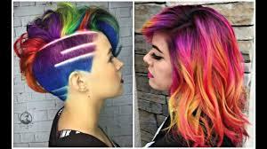 rainbow color hair ideas 2017 rainbow hair color ideas youtube