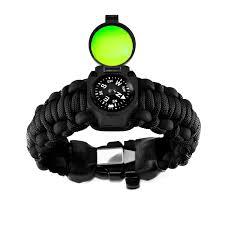 survival bracelet watches images Adventure paracord survival bracelet black 6 5 quot l small jpg