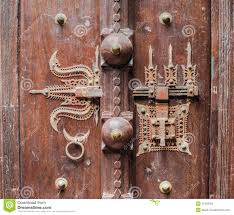 traditional indian ancient the lock on a door stock photo image
