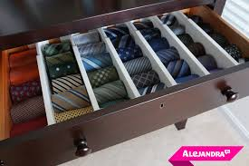 alejandra tv how to organize men s ties