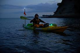 kayak lights for night paddling viking kayaks nz be seen on the water at night with good lighting