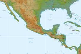 World Physical Map by Physical Map Of Mexico And Central America
