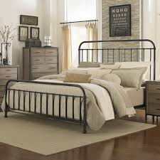 Iron And Wood Headboards by Bedroom Design Exciting Wrought Iron Headboard For Antique Bed