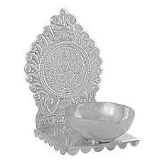 Silver Accessories Silver Diya By Jpearls Jpaug 106 Gold U0026 Silver Gifts Homeshop18