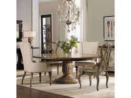 hooker furniture auberose 5 piece dining set with round pedestal