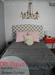 Making A Duvet Cover Repurpose Fabric Shower Curtain Into A Ruffled Duvet