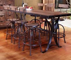 bar height table industrial rustic bar height dining table spurinteractive com