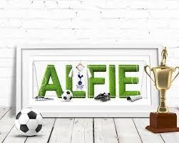 Personalised Baby Nursery Decor Football Name Football Name Personalised