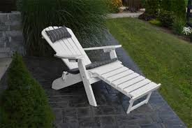 Wooden Recliner Chair A U0026l Poly Folding And Reclining Adirondack Chair With Pullout Ottoman