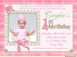 1st birthday invitations free template personalised girls