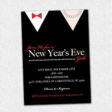 new years tie new years gala celebration bash party invitation black