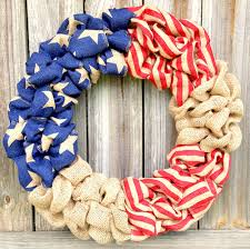 how to make wreaths patriotic decorations how to make a burlap wreath