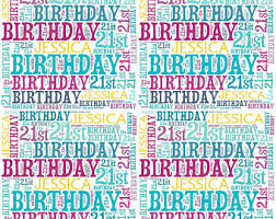 birthday gift wrap personalised birthday wrapping paper 21st gift wrap with own