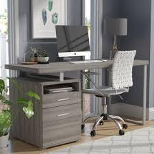 Gray Office Desk Alldredge Computer Desk Wayfair