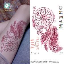 sc 701 latest 2016 colorful dreamcatcher temporary fake tattoo