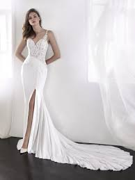 Wedding Dresses With Straps Lael Mermaid Wedding Dress With Sweetheart Neckline And Spaghetti