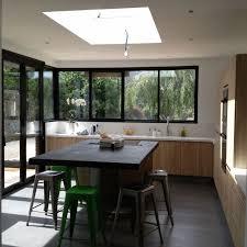 extension de maison cuisine sol béton ciré angers houses